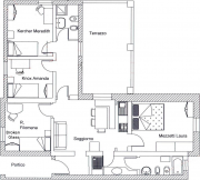 """Floor plan of residence shared by Amanda Knox and Meredith Kercher"""